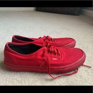 Men's Red Vans